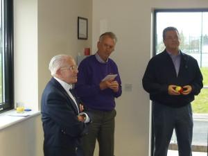 Left to right Neville Barratt founding member, Alan Hughes LLTC President, Jez Moxey Chief Executive WWFC